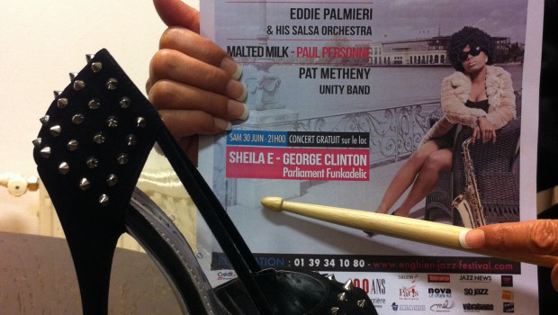 Sheila E. promoting her show at the Enghien Jazz Festival 2012