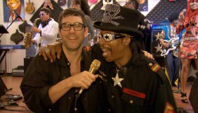 Jamie Lidell & Bootsy Collins jamming at Boosty house in Cincinnati © avanti media/Boris Fromageot/Fabian Meyer